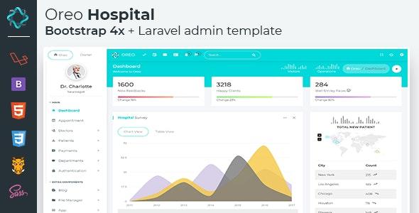 Oreo Hospital Laravel - Bootstrap 4x Admin template by