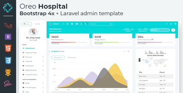 Oreo Hospital Laravel - Bootstrap 4x Admin template