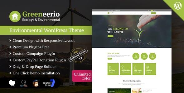 Greeneerio - WordPress Ecology & Environmental Theme