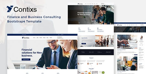 Contixs - Finance and Business Consulting Bootstrap 4