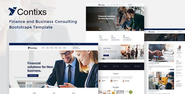Contixs - Business Consulting HTML Template - Business Corporate