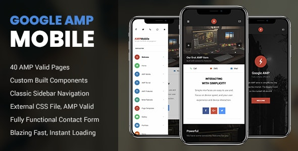 AMP Mobile - Mobile Site Templates