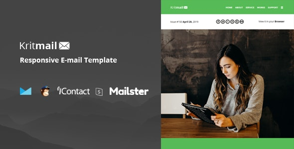 Krit Mail - 40+ Modules + Online Access + Mailster + MailChimp - Email Templates Marketing