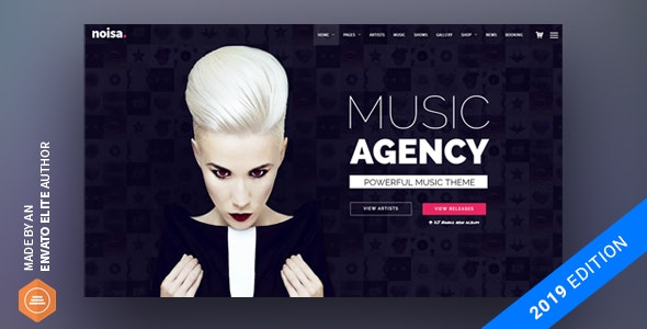 Noisa - Music Producers, Bands & Events Theme for WordPress - Music and Bands Entertainment