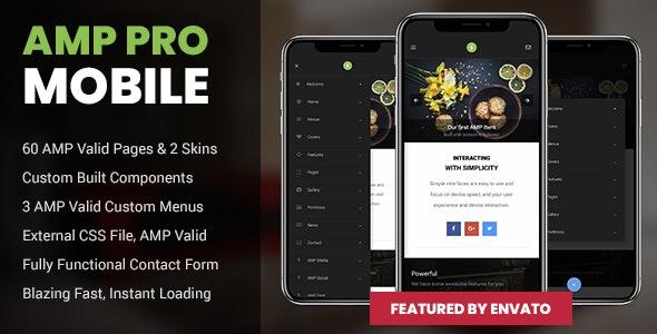 AMP Pro Mobile - Mobile Site Templates