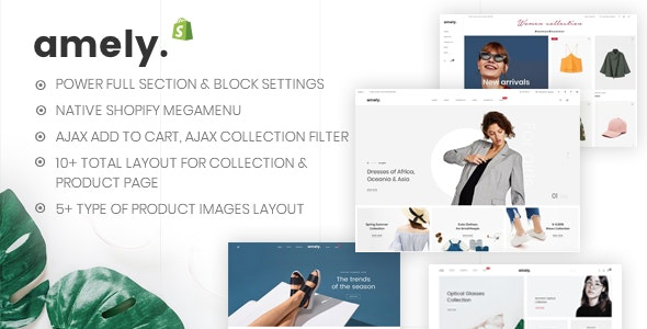 Amely - Clean & Modern Shopify Theme - Fashion Shopify