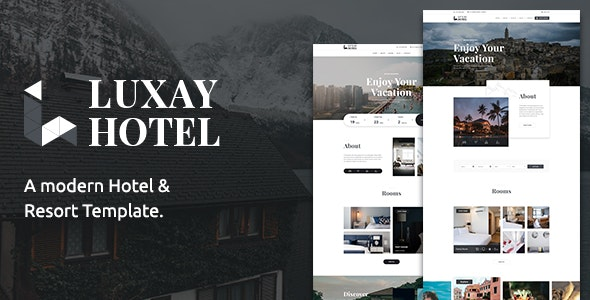 Luxay - Hotel and Resort PSD Template - Retail PSD Templates