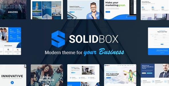 SolidBox | Modern Business WordPress Theme