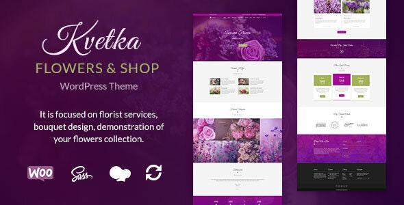 Kvetka - Flowers & Shop WordPress Theme - Retail WordPress