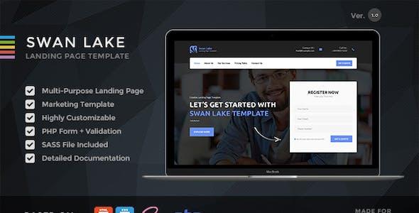 Swan Lake - Lead Generation Marketing Landing Page