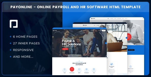 Payonline - Online Payroll and HR Software HTML Template - Business Corporate