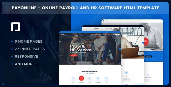 Payonline - Online Payroll and HR Software HTML Template