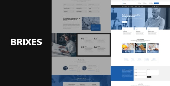 Brixes - Factory & Industry WordPress Theme - Business Corporate