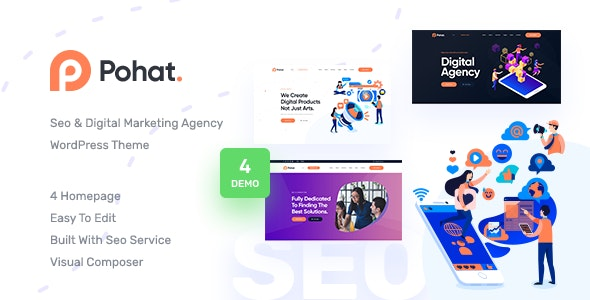 Pohat - SEO & Digital Marketing Agency WordPress Theme - Marketing Corporate