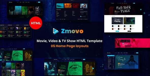 Zmovo - Online Movie Video And TV Show HTML Bootstrap 4 Template - Film & TV Entertainment