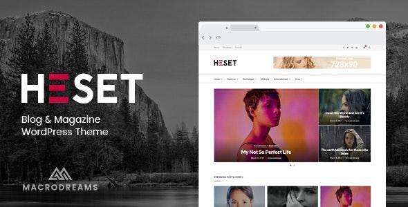 Heset - Blog | Magazine WordPress Theme - Personal Blog / Magazine
