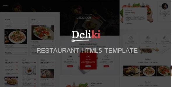 Deliki - Restaurant HTML Template - Restaurants & Cafes Entertainment