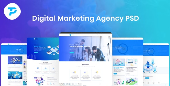 TP - Digital Agency PSD Template - Business Corporate