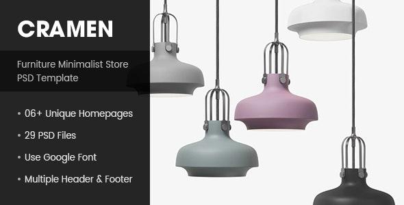 Cramen - Minimalist Furniture PSD Template - Retail Photoshop