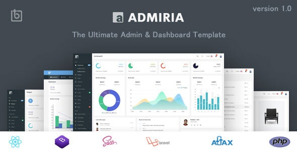 Admiria - The Ultimate Admin & Dashboard Template - Admin Templates Site Templates