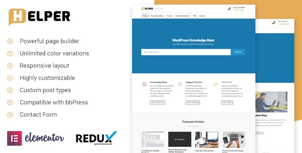Helper - Knowledge Base / Support WordPress Theme - Miscellaneous WordPress