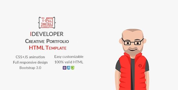 iDeveloper - Creative Personal Portfolio Template - Portfolio Creative