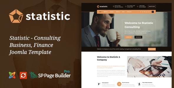 Statistic - Business Consulting and Professional Services Joomla Theme - Business Corporate