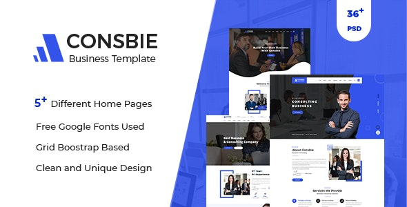 Consbie - Business PSD Template - Business Corporate