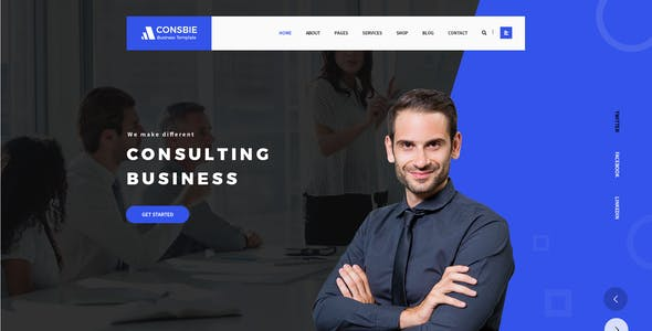 Consbie - Business PSD Template