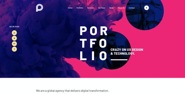 Picko - Clean Portfolio WordPress Theme