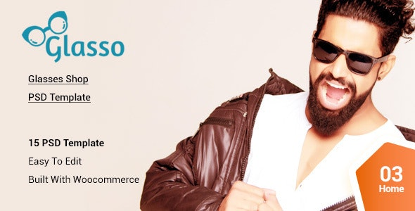 Glasso  -  Glasses eCommerce PSD template - Fashion Retail