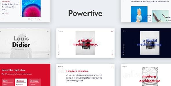 Powertive - Creative Portfolio Website Template by mivfx
