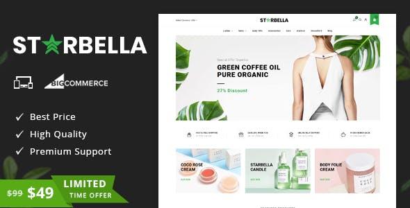 StarBella - Multipurpose Stencil BigCommerce Theme nulled theme download