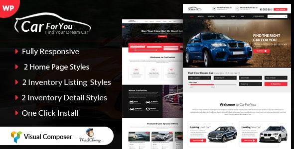 Auto CarForYou - Responsive Car Dealer WordPress Theme - Corporate WordPress