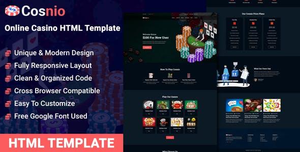 Cosnio - Casino HTML Template nulled theme download