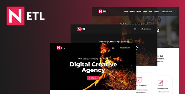 Ntel - Digital Agency  HTML Template - Corporate Site Templates