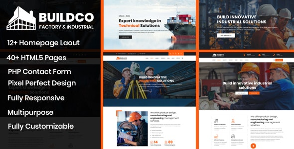 Buildco - Factory, Industrial & Construction Template - Business Corporate