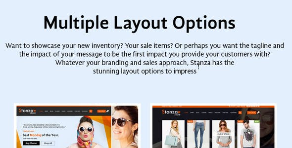 Stanza Store – Responsive eCommerce HTML 5 Template