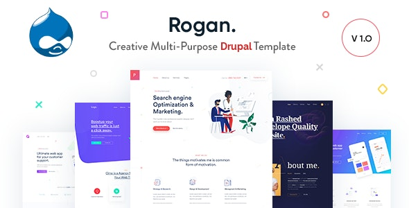Rogan - Creative Multi-Purpose Drupal 8 Theme by