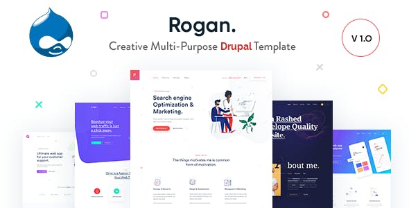 Rogan - Creative Multi-Purpose Drupal 9 Theme