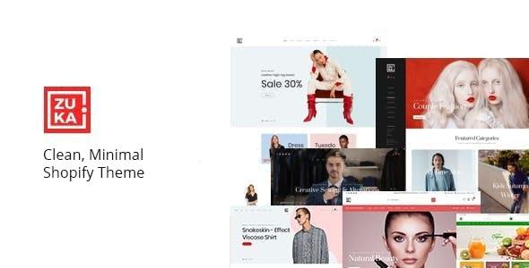 Minimal Shopify Theme - Zuka - Shopping Shopify