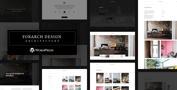 Forarch | Architecture WordPress Theme - Portfolio Creative