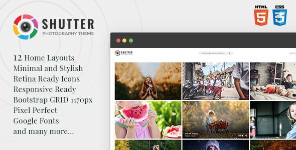 Shutter - Photography HTML5 Template - Photography Creative