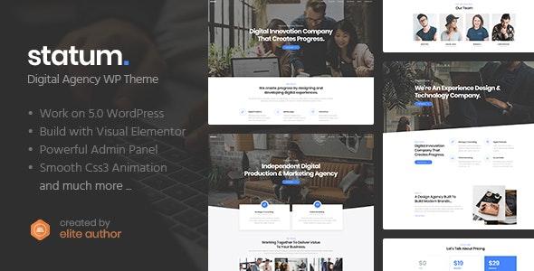 Statum - Business & Agency WordPress Theme - Business Corporate