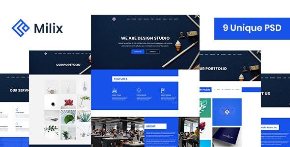 Milix - Creative Agency Template - Creative Photoshop