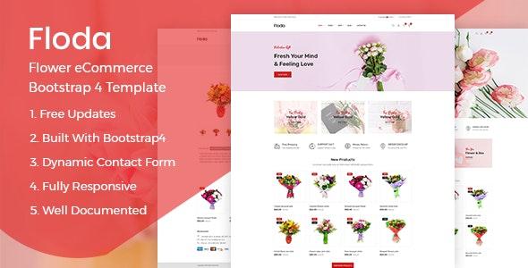 Floda – Flower Store HTML Template - Shopping Retail