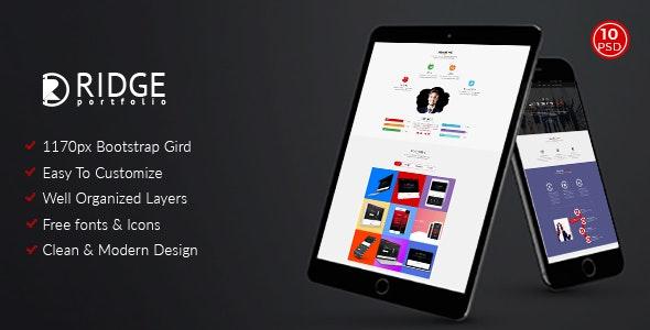 Ridge - Corporate and Personal Portfolio Template - Portfolio Creative