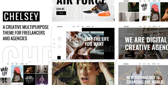 Chelsey - Portfolio Theme for Freelancers and Agencies by Lesya