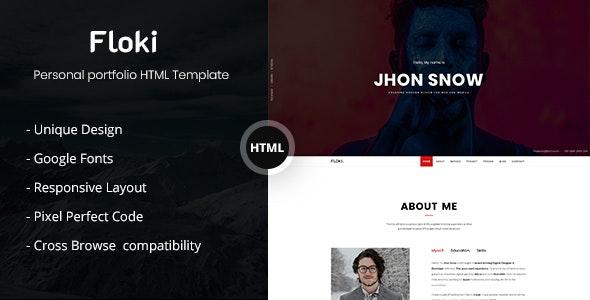 Floki - One Page Personal Portfolio HTML Template - Portfolio Creative