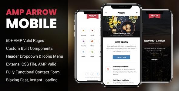 AMP Arrow Mobile - Mobile Site Templates